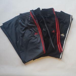Set of 4 - Boys Adidas track pants size large.